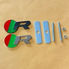 Black And Silver R Grill Badge Front Emblem 3d Metal Car Logo For Jaguar
