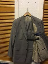 "VAN KOLLEM Wool Blend MENS Two Pieces Regular Suit Size 44R/ 36"" Waist Grey New"
