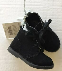 NWT Janie and Jack Polar Wonderland Black Suede Boots Sz 04 for 6-12 Months