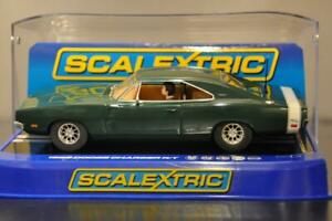 SCALEXTRIC C3064 1969 DODGE CHARGER  R/T GREEN NEW MINT COLLECTOR GRADE 298