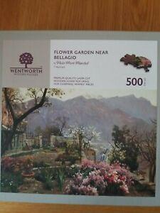 Wentworth wooden jigsaw puzzle500 pieces - Flower Garden near Bellagio