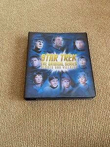 Collectible Star Trek Original Series Heroes And Villains Trading Cards Binder