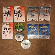 Lot of 6 Scientific Anglers/ 4 cortland trout leaders