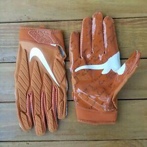 Nike Superbad Texas Longhorns Football Gloves Orange CK2750 858 Men's Size XL