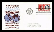 DR JIM STAMPS US MONTGOMERY BLAIR CACHET CRAFT AIR MAIL UNSEALED FDC COVER C66
