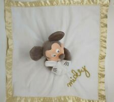 29 - GRAND DOUDOU PLAT MICKEY BLANC DORE OR GOLD COUVERTURE DISNEY NEUF