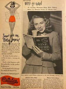 Betty Hutton, Full Page Vintage Clipping