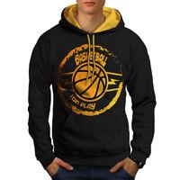 Wellcoda Basketball Game Sport Mens Contrast Hoodie, Best Casual Jumper