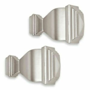 Cambria Classic Complete Napoleon Finials in Brushed Nickel (Set of 2), NEW