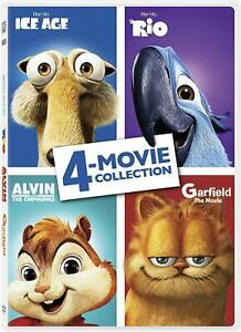 Ice Age/Garfield/Alvin and the Chipmunks/Rio (DVD, 2017) NEW