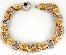 1.40ct natural fancy color brownish yellow diamonds hinge bracelet 14kt +