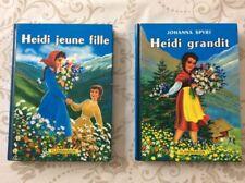2 LIVRES HEIDI   1958,FLAMMARION. PRINTED IN FRANCE