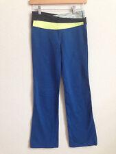 Lululemon Astro Pants Blue Yellow Black Space Dye size 6