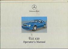 CLK Class Mercedes-Benz Car Owner & Operator Manuals