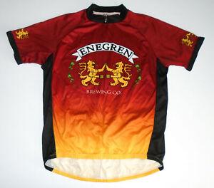 ENEGREN BEER Cycling Jersey PRIMAL WEAR California Brewery Vtg Mens XL