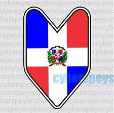 Dominican Flag JDM Design Car Vinyl Decals/Stickers