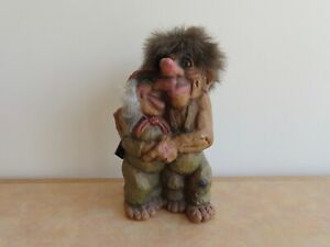Vintage Original NyForm #126 Large 24cm Tall Troll Couple - Norway Souvenir