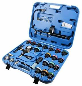 28-tlg Kuehlsystem Coolant Test Suitcase Compressed Air Tool Car Pressure Device