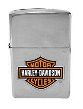 Zippo Harley Davidson Chrome Lighter With Logo, Item 200HD.H252, New In Box