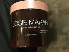 New Josie Maran Whipped Argan Oil Hydrating Body Butter White Tea Hibiscus 13.5