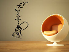 Wall Decor Art Vinyl Sticker Mural Decal Shisha Hookah Shop Sign Skull SA777