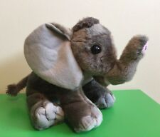 "Wild Republic 12"" African Elephant Baby Stuffed Animal Plush Safari Zoo Gray"