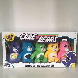 """Care Bears 9"""" Plush Special Edition Collector Set of 5 Exclusive Harmony Bear"""
