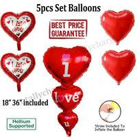5pcs Newborn Baby Shower Girl Boys Foil Balloons Set For Birthday Party Decor