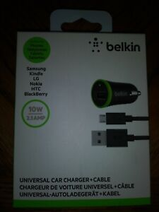 Belkin Universal Car Charger & Cable 10w/2.1 amp