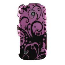 For MetroPCS LG Beacon MN270 HARD Protector Case Phone Cover Purple Black Swirl