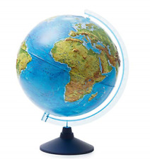 Exerz 32cm Illuminated Globe With Cable LED Lighting/ 2 in 1/ Day and Night