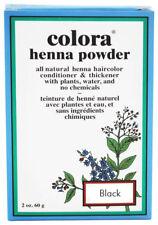 Colora Henna All Natural Organic Powder Hair Color 2oz  BLACK