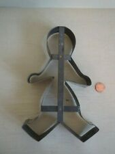 "Old Tin Large 8"" Gingerbread Cookie Cutter Primitive"