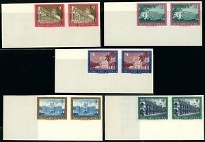 GUATEMALA #C274-C278 AIRMAIL Imperf Horizontal Pairs Postage Stamps 1964 MNH