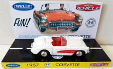 1:64 WELLY 1957 CORVETTE Diecast Replica Vehicle Model Car on Custom Display