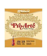 D'addario J56-3/4M Jeu Pro Arte pour violon Medium 3/4