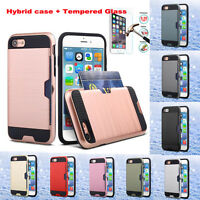 Shockproof Slim Hybrid Card Wallet Hard Back Phone Case Cover For iPhone X 8Plus