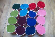 Stil pre cut wool rug yarn 16 pkgs/320 pcs ea multi colors