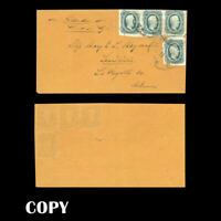 USA 1864 10c Greenish Blue Cover to Lewisville Ark., 40c Trans-Mississippi ,Copy