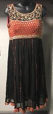 Salwar Kameez Made In India Black Burnt Red