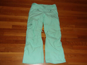 NEW THE NORTH FACE HYVENT MINT GREEN INSULATED SKI PANTS WOMENS MEDIUM