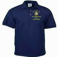 USS VANCOUVER  LPD-2  NAVY ANCHOR EMBROIDERED LIGHT WEIGHT POLO SHIRT