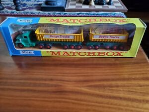 Matchbox Lesney 1968 Kingsize K-16 Dodge Tipper And Twin Trailer In Box