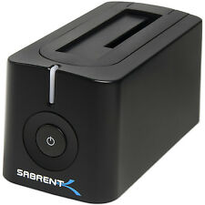 "Sabrent USB 3.0 to SATA External 2.5/3.5"" Hard Drive SSD Docking Station DS-UBLK"