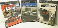 3 PS2 Game STARSKY & HUTCH, SUPERCAR STREET CHALLENGE, PRO STREET NEED FOR SPEED