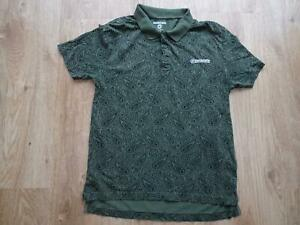 LAMBRETTA mens green black paisley polo t shirt top SIZE LARGE EXCELLENT