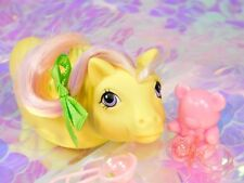 Vintage My Little Pony Baby Seapony SURFY Yellow Green Sea Sparkle G1 MLP (5)