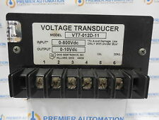 OHIO SEMITRONICS VT7-012D-11 VOLTAGE TRANSDUCER 0-800VDC INPUT = 0-10VDC OUTPUT