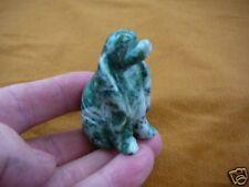 (Y-Dog-Cs-701) Green White Cocker Spaniel dog gemstone gem Love stone carving