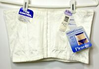 NOS Flexees Corset Waist Tummy Firm Control Instant Slimmer White Size 2X